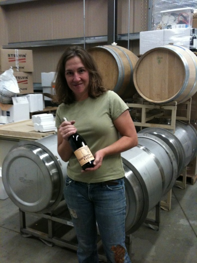 Amy Butler with Carignan from Ranchero Cellars